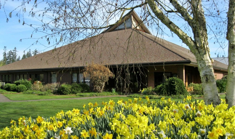 Featured Image 1:Church building in Spring