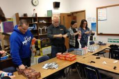Assembling homeless care kits